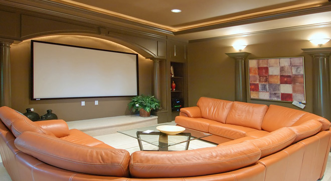 Get ideas for your home project here for Home theater basement design ideas
